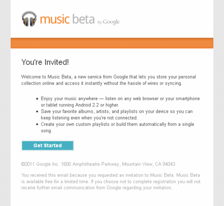 Googleのmusic betaを使ってみた